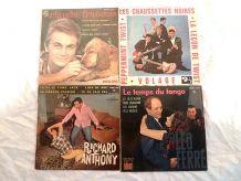 lot  de 4 disques  45T- années  1960