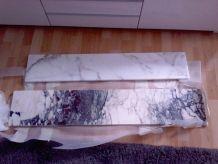 tablettes radiateur marbre