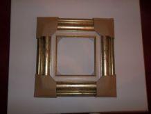 Cadre en bois doré 20 x 20 cm