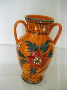 Vase vintage orange Italy H 30cm