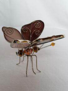 Papillon en vitrail