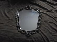 miroir bronze louis XV signé  FR 8  H de 41 .sur 34 cm