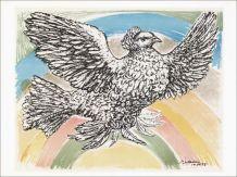 Lithographie Picasso Colombe Arc en ciel