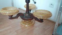 Lampe à suspendre en bois