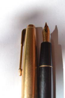 Stylo plume parker en or laminé et bakélite