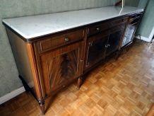 Buffet enfilade vintage avec marbre