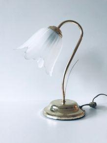 Lampe fleur art déco col de cygne
