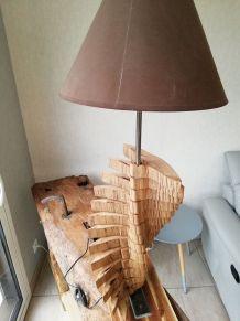 Lampe en segments de Hêtre