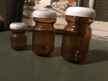 Trio bocaux verre chicorée Leroux