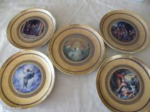 5 ASSIETTES COLLECTION FRANKLIN DU VATICAN