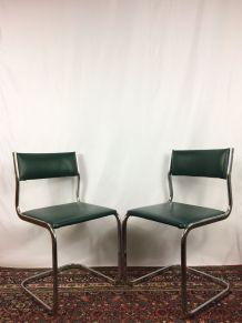 """Paire de chaises """"cantilever"""" vintage"""
