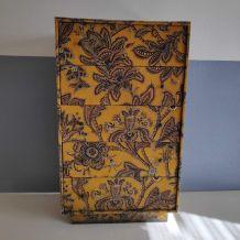 meuble tissu vintage 5 tiroirs entièrement doublés