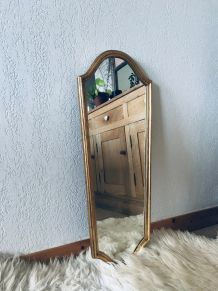 Grand miroir doré, miroir psyché ancien
