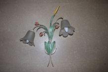Applique murale en métal effet fleurs et blés