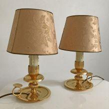 Paire de lampe vintage 50's