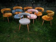 fauteuil année 60 70 fourrure moumoute vintage retro