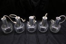 Série de cinq suspensions vintages