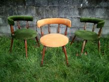 Beaux fauteuils gondole style Helmut Magg retro