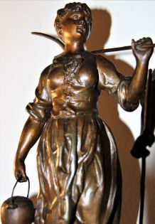 pendule XIX° signée Védie Caudebec en Caux
