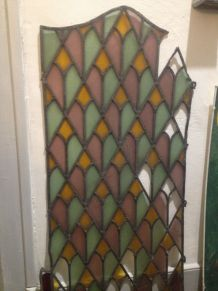 vitrail ancien formant panneau