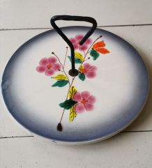 Plateau à fromage vintage motif fleurs