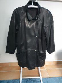 Veste MAC DOUGLAS cuir véritable doublure laine et cashmere