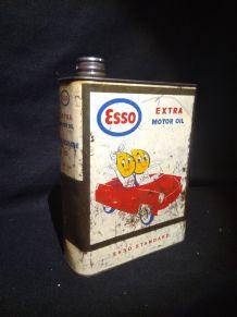 Ancien bidon huile  Esso
