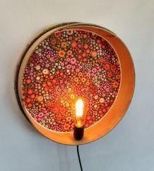 """Applique vintage, lampe murale """"Flower Power"""""""