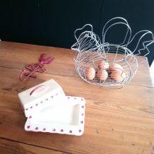 Ensemble panier à œufs...