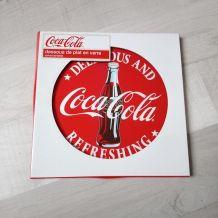 "Dessous plat en verre ""Coca-Cola"""