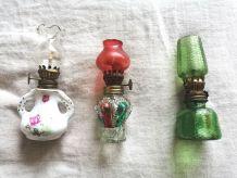 Lot de 3 mini lampes à pétroles identique aux grandes