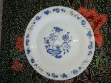 Assiettes à dessert Arcopal Fleurs bleues