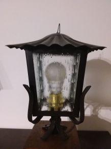 Lanterne de jardin sur socle bois n° 103