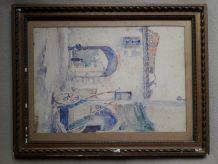 Une aquarelle de Jean de JOYBERT datée de 1922