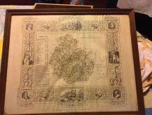 ancienne carte de cote d'or