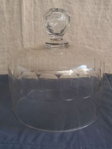 CLOCHE A FROMAGE ANCIENNE  EN CRISTAL