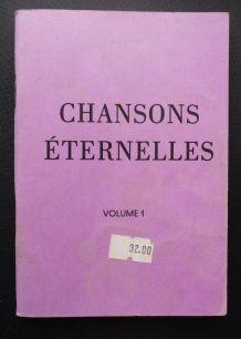 """livret """"chansons éternelles tome 1"""""""