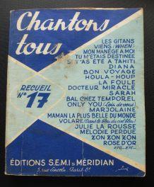 chantons tous  numéro 17 (édité en 1959)