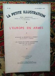 "La petite illustration - ""L'Europe en armes"" 1936"