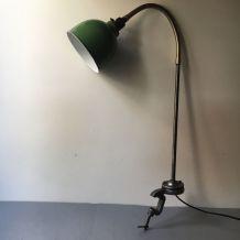 ANCIENNE LAMPE ATELIER INDUSTRIEL A ETAU VINTAGE