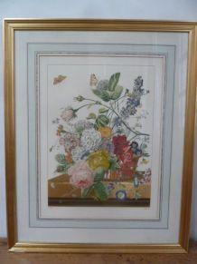 """Lithographie """"bouquet de fleurs"""" Antoine Chazal chez Mourlot"""