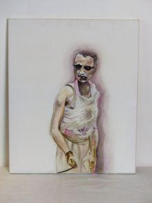 Portrait huile sur toile