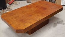 table basse bar a coulisse 1970 en loupe