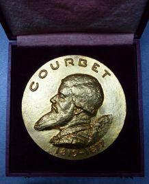 Médaille bronze Gustave Courbet par P. Bouret