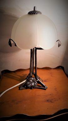 LAMPE ART DECO EN FER FORGe style
