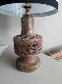 Lampe vintage signée  Agnès ESCALA