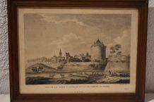 Vielle gravure gravure Dijon