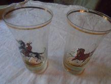 2 Verres à bière