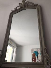 Miroir Ancien grand format rectangulaire esprit trumeau