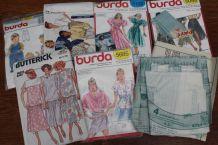 LOT PATRON BURDA VINTAGE RÉTRO ANNÉE 70-80